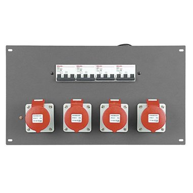 SHOWTEC PDP-164F 19 inch Panel with 4 x 16A CEE 5 pole + MCB