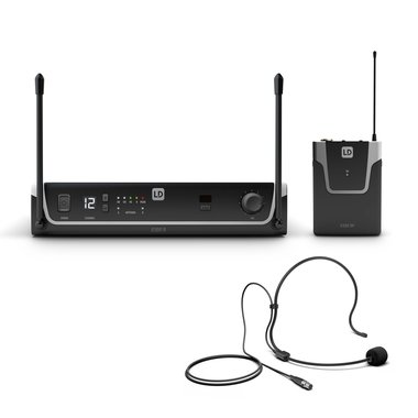 LD Systems U305 wireless microphone set beltpack + headset 584-608 MHz