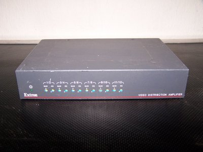 Extron DA 12V/6V Dual EQ 12 Output or Dual Six Output Composite Video Distribution Amplifier with Gain and EQ Controls